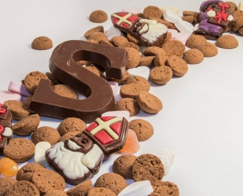 Snoepen Sinterklaas afvallen